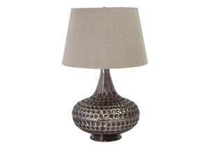 Sarely Pewter Finish Metal Table Lamp