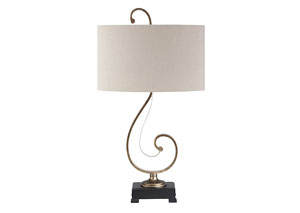 Tahir Antique Silver Finish Metal Table Lamp