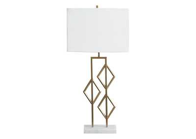 Image for Edsel Champagne/White Table Lamp