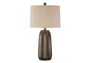 Khalil Brown Poly Table Lamp