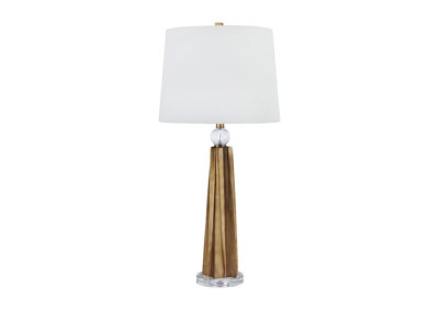Engla Antique Gold Finish Poly Table Lamp (Set of 2)