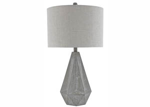 Ibby Gray  Poly Table Lamp (Set of 2)