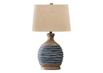 Medlin Gray/Beige Table Lamp