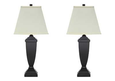 Amerigin Bronze Finish Poly Table Lamp (Set of 2)