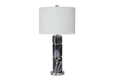 Maricela Black/White 2 Piece Table Lamp Set