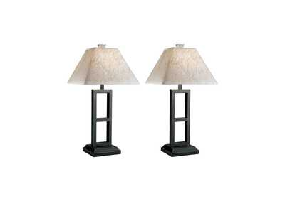 Image for Deidra Black Metal Table Lamp (Set of 2)