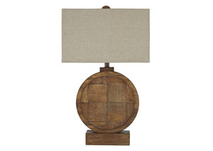 Shonalee Natural/Brown Wood Table Lamp