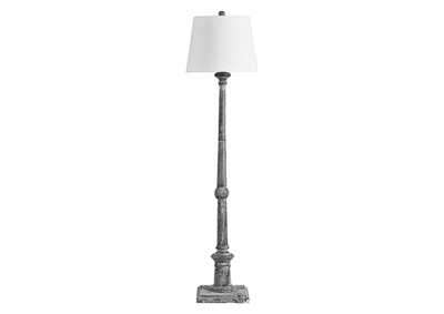 Zimba Antique Gray Floor Lamp