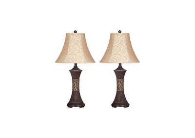 Image for Bronze Mariana Resin Table Lamp (Set of 2)