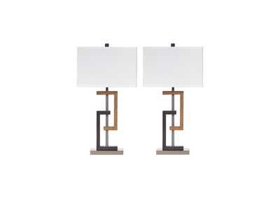Image for Syler Poly Table Lamp (Set of 2)