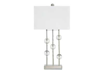 Image for Jaala Clear/Silver Finish Metal Lamp