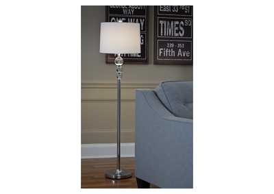 Joaquin Chrome Finish Crystal Floor Lamp