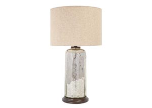 Sharlie Silver Finish Glass Table Lamp,Signature Design By Ashley