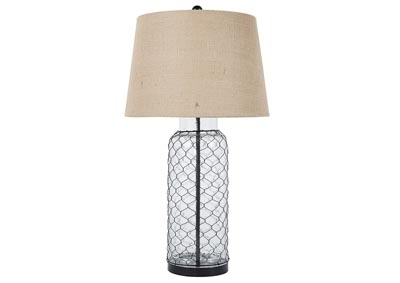 Transparent Glass Table Lamp ?>