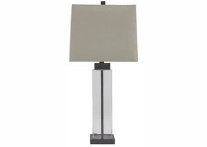 Alvaro Clear/Bronze Glass Table Lamp (Set of 2)