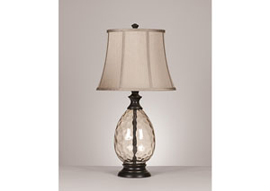 Bronze Olivia Glass Table Lamp (Set of 2)