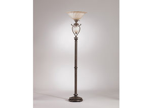 Dark Brown Gavivi Metal Floor Lamp