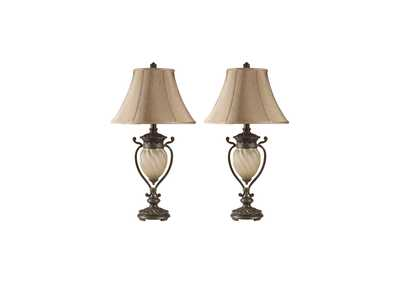 Dark Brown Gavivi Metal Table Lamp (Set of 2)