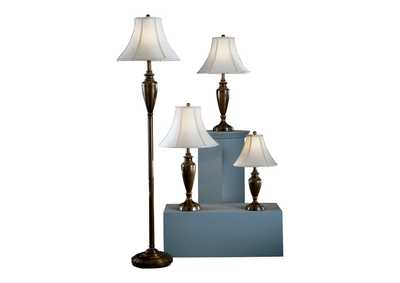 Copper Caron Metal Lamp (Set of 4)