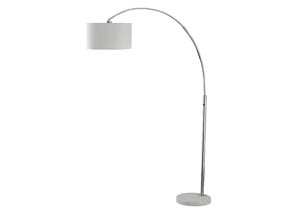 Areclia Chrome Finish Metal Arc Lamp