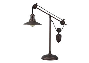 Kylen Bronze Finish Metal Desk Lamp