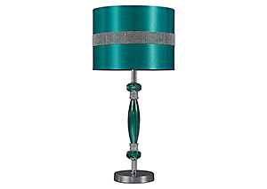 Teal & Silver Finish Acrylic Table Lamp
