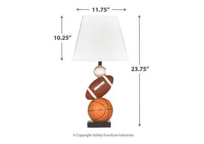 Brown/Orange Nyx Poly Table Lamp,Signature Design By Ashley