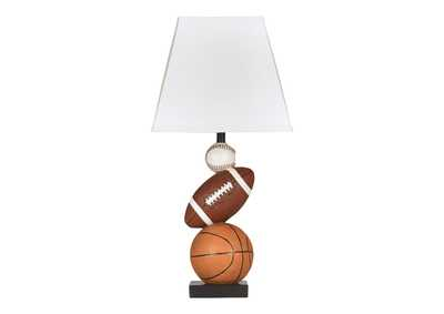 Image for Brown/Orange Nyx Poly Table Lamp