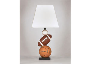 Brown/Orange Nyx Poly Table Lamp ?>