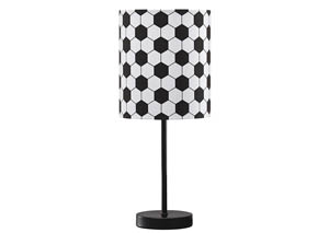 Lamar Black/White Metal Table Lamp