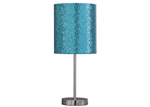 Maddy Teal/Silver Finish Metal Table Lamp