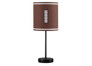 Lamar Brown/Bronze Finish Metal Table Lamp