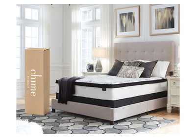Chime 12 Inch Hybrid White California King Mattress in a Box