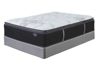 Manhattan Design District Firm Pillowtop White Queen Mattress w/Split Queen Foundation