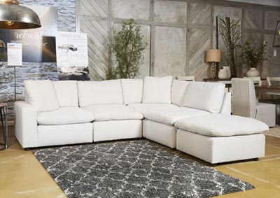 Savesto Ivory Left Facing Corner Chair Sectional