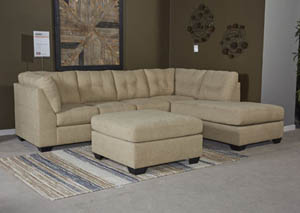 Maier Cocoa Right Facing Full Sofa Sleeper Sectional