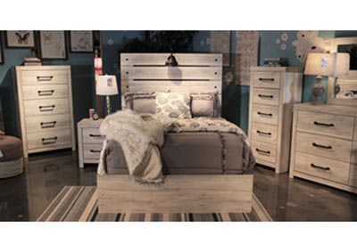 Cambeck Twin Storage Bed w/Dresser & Mirror