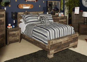 Derekson Multi Gray Twin Platform Bed