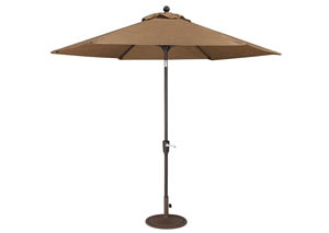 Tan/Dark Brown Medium Auto Tilt Umbrella