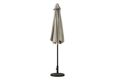 Umbrella Accessories Beige Patio Umbrella and Base