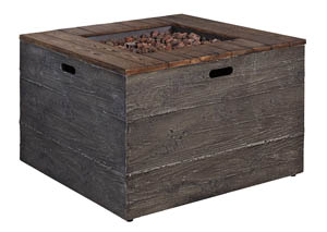 Hatchlands Brown/Gray Square Fire Pit Table
