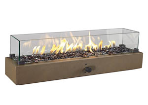 Hatchlands Brown Table Top Fire Bowl