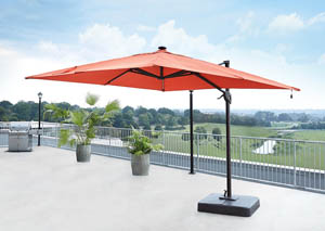 Oakengrove Coral Large Cantilever Umbrella,Outdoor By Ashley