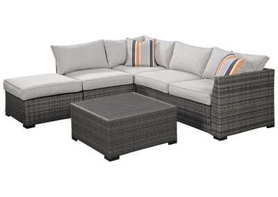 Image for Cherry Point Gray 4-Piece Outdoor Sectional Set