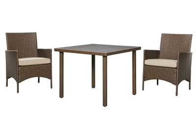 Reedenhurst Brown 3-Piece Dining Table Set