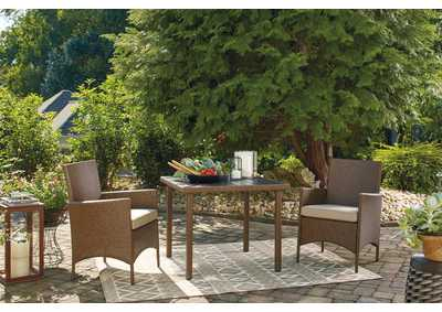 Image for Reedenhurst Brown 3-Piece Dining Table Set