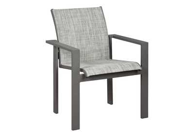 Image for Okada Gray Sling Arm Chair (Set of 4)