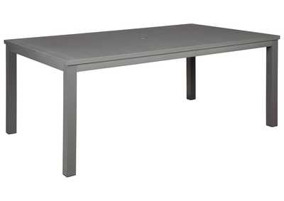Image for Okada Gray Dining Table with Umbrella Option