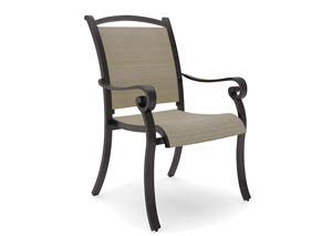 Bass Lake Beige/Brown Sling Chair (4/CN)