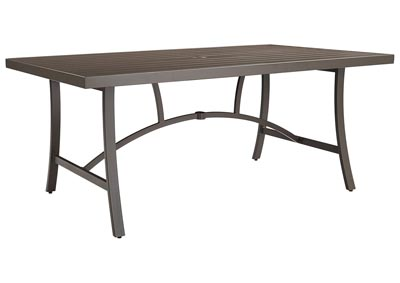 Predmore Beige/Brown Rectangular Dining Table